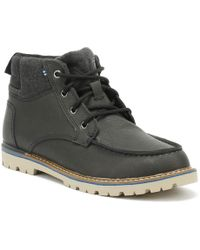 TOMS Hawthorne Mens Forged Iron Leather Boots - Gray