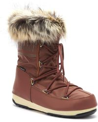 Moon Boot - Monaco Low 2 Womens Rust Boots - Lyst