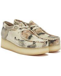 Clarks Wallacraft Lo Nubuck Camo Off Shoes - White