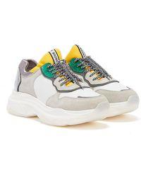 Bronx Baisley Weiß Silber Gelbe Plateau Sneaker