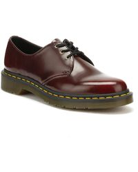 Dr. Martens Dr. Martens Cherry Red Vegan 1461 Shoes Women's Casual Shoes In Red
