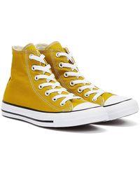 Converse Chuck Taylor All Stars High Top Frauen Gelbe Turnschuhe