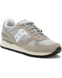 Saucony - Mens Grey / White Shadow Original Trainers - Lyst