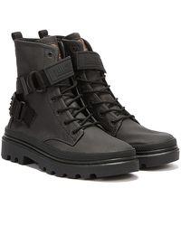 Palladium Pallatrooper Rock Tx Boots - Black