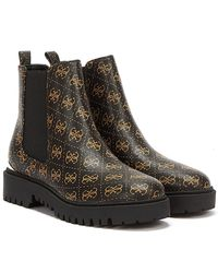 Guess Olet / Ochra Ankle Boots - Brown