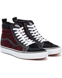 Vans Sk8-hi Mte Mens Dark Red / Black Sneakers