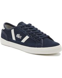 Lacoste Sideline 319 3 Mens Navy / Off White Sneakers - Blue