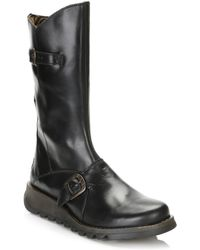 Fly London Mes 2 Wedge Zip Up Boots - Black
