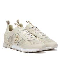 Emporio Armani EA7 XK050 Creme / Hellgold Sneakers - Mehrfarbig