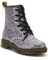 Dr. Martens S 1460 Farrah Chunky Glitter Festival Fashion Ankle Boots - Blue