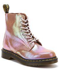 Dr. Martens Dr. Martens 1460 Pascal Iridescent Texture Womens Pink Boots
