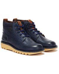 Kickers Kick Hi Winter Oily Mens Navy Boots - Blue