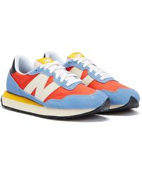 New Balance 237 Blue / Pink / White Sneakers