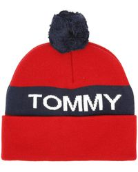 Tommy Hilfiger - Rugby Stripe Bobble Beanie - Lyst