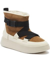 UGG Boom Buckle Suede Boots - Brown