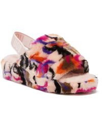 UGG UGG Fluff Yeah Motlee Womens Pink Slippers