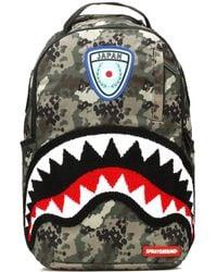 Sprayground - Japan Camo Shark Backpack - Lyst
