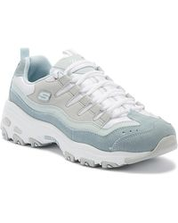 Skechers - D'lites Sure Thing Womens Blue Trainers - Lyst