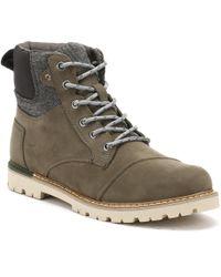 TOMS - Mens Tarmac Olive Brown Nubuck Ashland Boots - Lyst