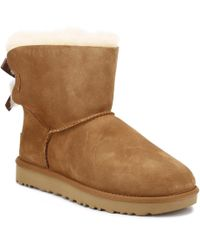 UGG - UGG Womens Chestnut Brown Mini Bailey Bow Ii Boots - Lyst