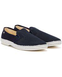 Rivieras Classic Marineblaue Schuhe