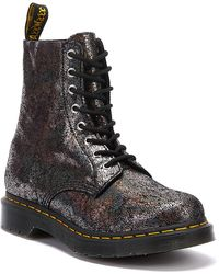 Dr. Martens Dr. Martens 1460 Pascal Crackle Womens Gunmetal Gray Boots
