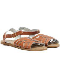 Salt Water Retro Sandals - Brown