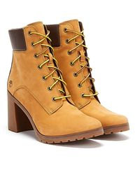 Timberland Womens Wheat Yellow Allington 6 Inch Boots