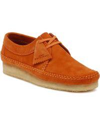 Clarks - Originals Mens Spice Orange Weaver Suede Shoes - Lyst