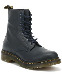 Dr. Martens Dr. Martens 1460 Pascal Virginia Womens Dress Blue Boots