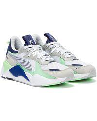 PUMA RS-X Toys Baskets Blanc / Bleu / Vert Menthe Pour