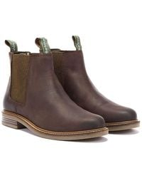 Barbour Farsley Mens Choco Brown Chelsea Boots