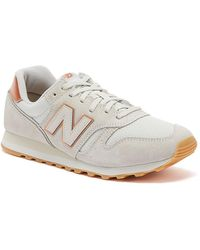 New Balance 373 Womens Beige / Rose Gold Trainers - Natural
