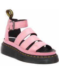 Dr. Martens Clarissa Ii Pink Gladiator Sandals - Womens Uk 5