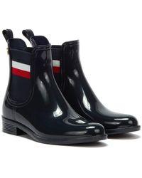 Tommy Hilfiger Corporate Ribbon Rainboot Boots - Blue