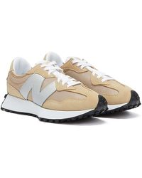New Balance 327 / Silver Trainers - Natural