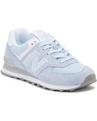 New Balance Womens 574 Blue Classic Trainers