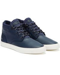 Lacoste Esparre Chukka 320 1 Mens Navy / White Trainers - Blue
