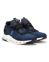 On Running Cloud Nova Marineblau / Weiss Sneakers