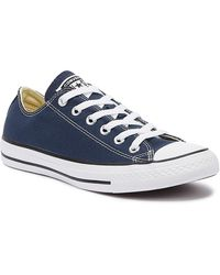 Converse - Ct Low Womens Navy Blue Canvas Trainers - Lyst