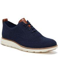 Cole Haan Øriginalgrand Stitchlite Wingtip Oxford Navy / Ivory Oxford Shoes - Blue