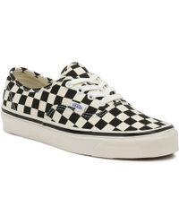 Vans Anaheim Factory Authentic 44 Dx Black Checkerboard Sneakers