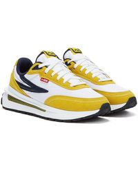 Fila Renno Yellow Trainers - Blue