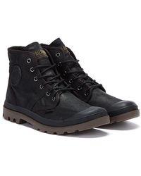 Palladium Pallabrouse Waxed Canvas Mens Black Boots