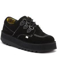 Kickers Kick Lo Creepy Womens Black Shoes