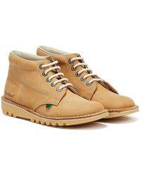 Kickers Kick Hi / Natural Nubuck Boots - Multicolor