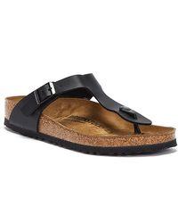 Birkenstock Gizeh Birko-flor Sandals - Black