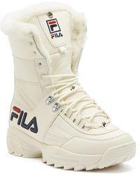 Fila Disruptor Boot Sneaker Boots - White
