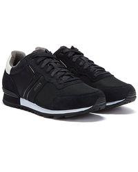 BOSS by Hugo Boss Parkour Runn Mens Black / White Sneakers