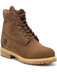 Timberland Mens Potting Soil Brown 6 Inch Premium Boots